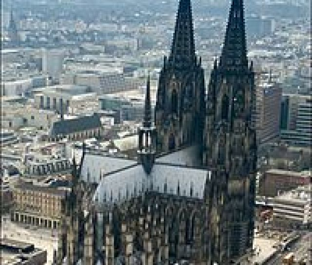 Cologne Cathedral Aerial Viewe From The East