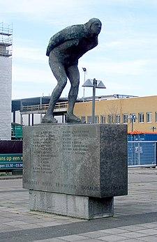 Leeuwarden, Statue, Elfstedentocht
