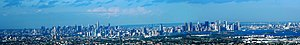 Skyline of New York City and Jersey City from ...