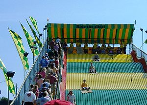 Giant slide, Minnesota State Fair, Falcon Heig...
