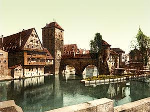 Hangman Bridge, Nuremberg, Bavaria, 1890s