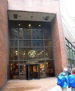 Door of Hebrew Union College on West 4th