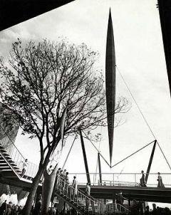 Skylon tower at Festival of Britain