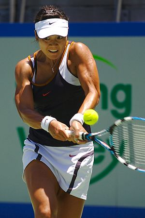 English: The tennis player Li Na at the 2007 M...
