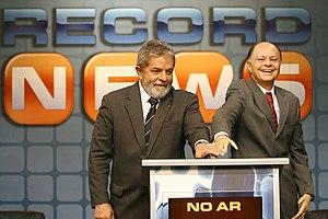 Português: Presidente Lula, e o proprietário d...