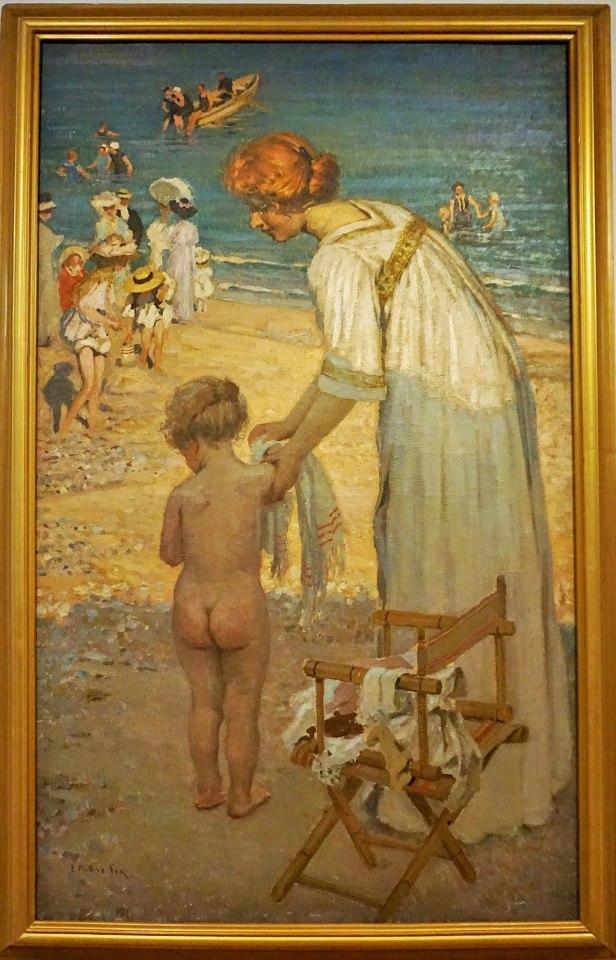 "Queensland Art Gallery - Joy of Museums - ""Bathing Hour"" (L'Heure de Bain) by E Phillips Fox"