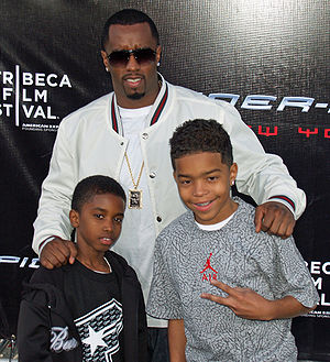 Sean Combs and his 2 of his children Justin an...
