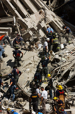 Rescue and recovery effort after the September 11 attacks