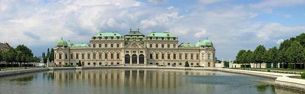 Wien schloss belvedere panorama