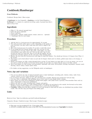 An example recipe, printed from the Wikibooks ...