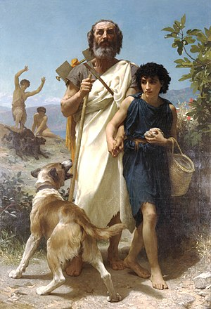 Homer and his Guide (1874)