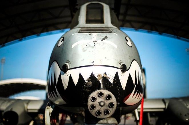 A-10 bares its teeth (14801945602).jpg