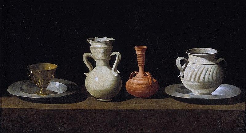 Francisco de Zurbaran, Plates and Vases 1633