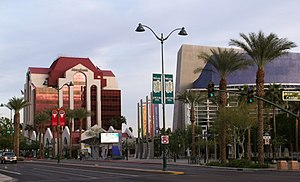 English: Photograph of downtown Mesa, Arizona,...