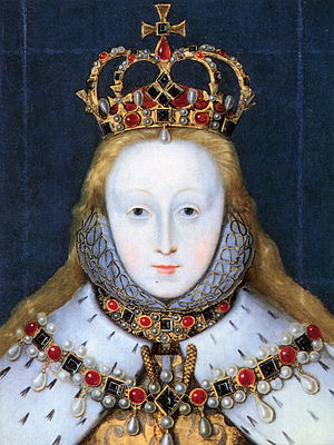 Elizabeth I in coronation robes detail