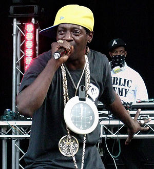 Flavor Flav from Public Enemy performing live ...
