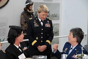 Gen. Ann Dunwoody meets with Rear Adm. Liz You...