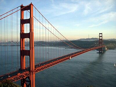 The Golden Gate Bridge in San Francisco...