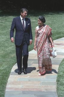 File:Indian Prime Minister Indira Gandhi with U.S President Ronald Reagan in 1982.jpg
