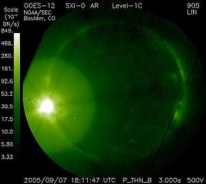 NOAA solar flare 2005-09-07
