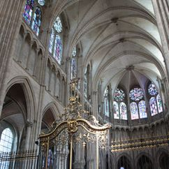 Cathedral Architecture Gothic Arches Diagram Leviton 3 Way Toggle Switch Wiring Wikipedia Interior Of Auxerre In Burgundy 1215 1233
