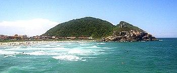 Prainha beach at São Francisco do Sul island, ...