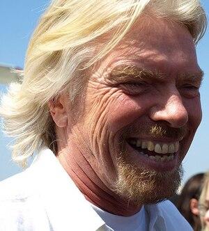 Richard Branson at the Virgin America OC Launch.
