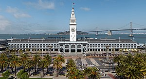 The Ferry Building is a terminal for ferries o...