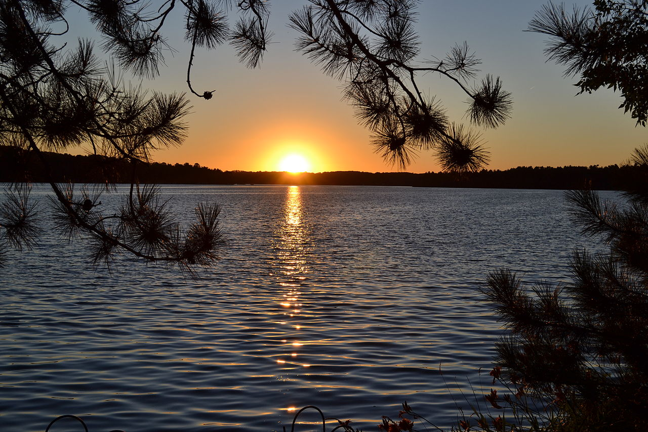 Beautiful Fall Scenes Wallpaper File Sunset Lake Nebagamon Wisconsin Jpg Wikimedia