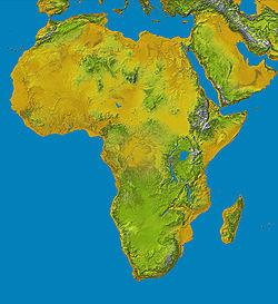Cartina geografica dell'Africa