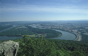 Chattanooga (city), Tennessee, USA, view from ...