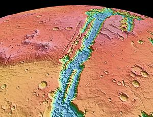 Polski: NASA World Wind - Mars (MOLA Shaded el...