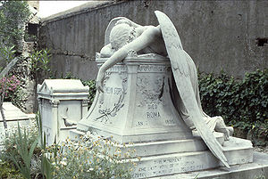 The original Angel of Grief in Rome.