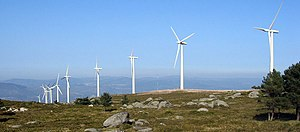 English: Windpark in Galicia, Spain.