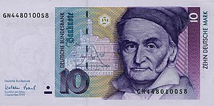 English: German banknote of the fourth series ...