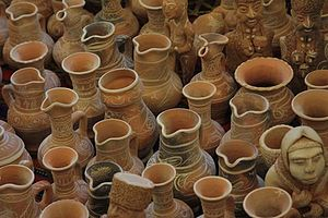English: National jugs in the village of Balkh...
