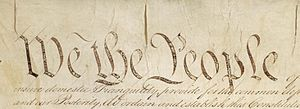Detail of Preamble to Constitution of the Unit...