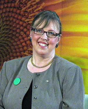 Elizabeth May at the Green Party of Canada lea...