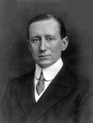 Guglielmo Marconi, portrait, head and shoulder...