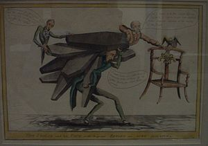 English: Circa 1830 political cartoon of Henry...