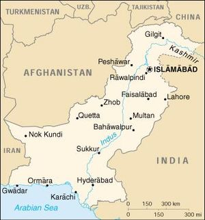 Pakistan map (1990 version)