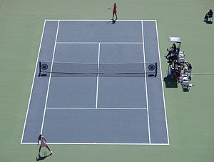 Shahar Peer(bottom) Vs. Anna Chakvetadze At Th...