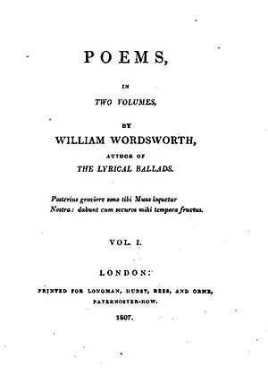 English: The title page of Poems in two volume...