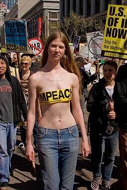Pro-Impeachment anti-war protester 2007