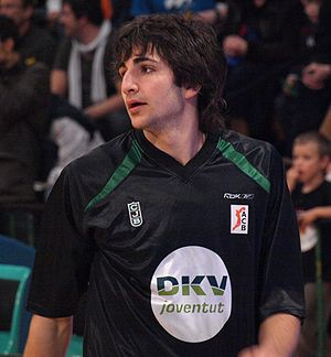 Rubio warming up with DKV Joventut.
