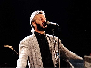 English: Ringo Starr performing in 1987 for th...