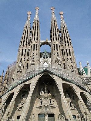 English: The Passion façade of the Sagrada Fam...