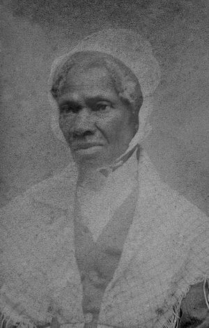 Sojourner Truth, half-length portrait; hotogra...