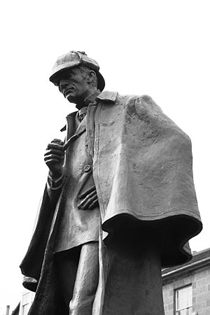 English: Statue of Sherlock Holmes in Edinburgh