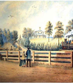 Painting of Colborne Lodge, Toronto, Canada, 1865.